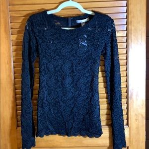 Forever 21 long sleeve lace blouse XS